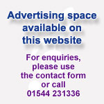 Place an advert on TAF Music - call 01544 231336 or use the contact page on this site
