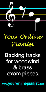 Your online pianist - practice backing tracks for exam pieces